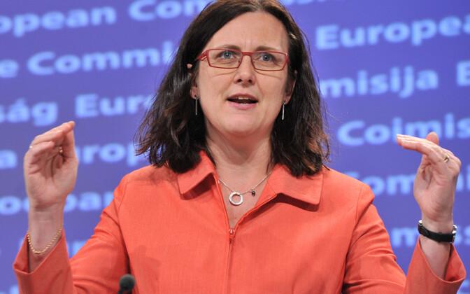 Еврокомиссар по торговле Сесилия Мальмстрём.