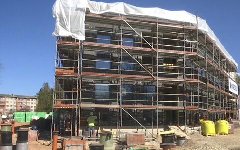 Строящаяся госгимназия в Кохтла-Ярве.