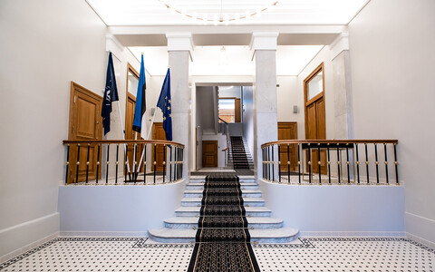 The newly renovated Estonian Embassy in Moscow.
