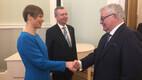 Предприниматель и бывший премьер-министр Эстонии Тийт Вяхи на открытии посольства.