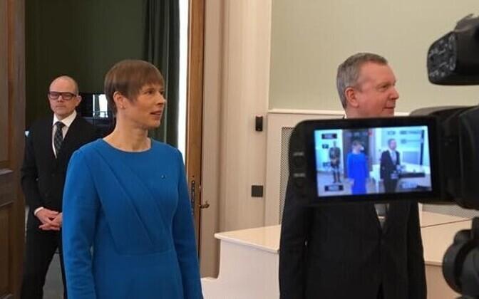 President Kersti Kaljulaid ja Eesti suursaadik Moskvas Margus Laidre.
