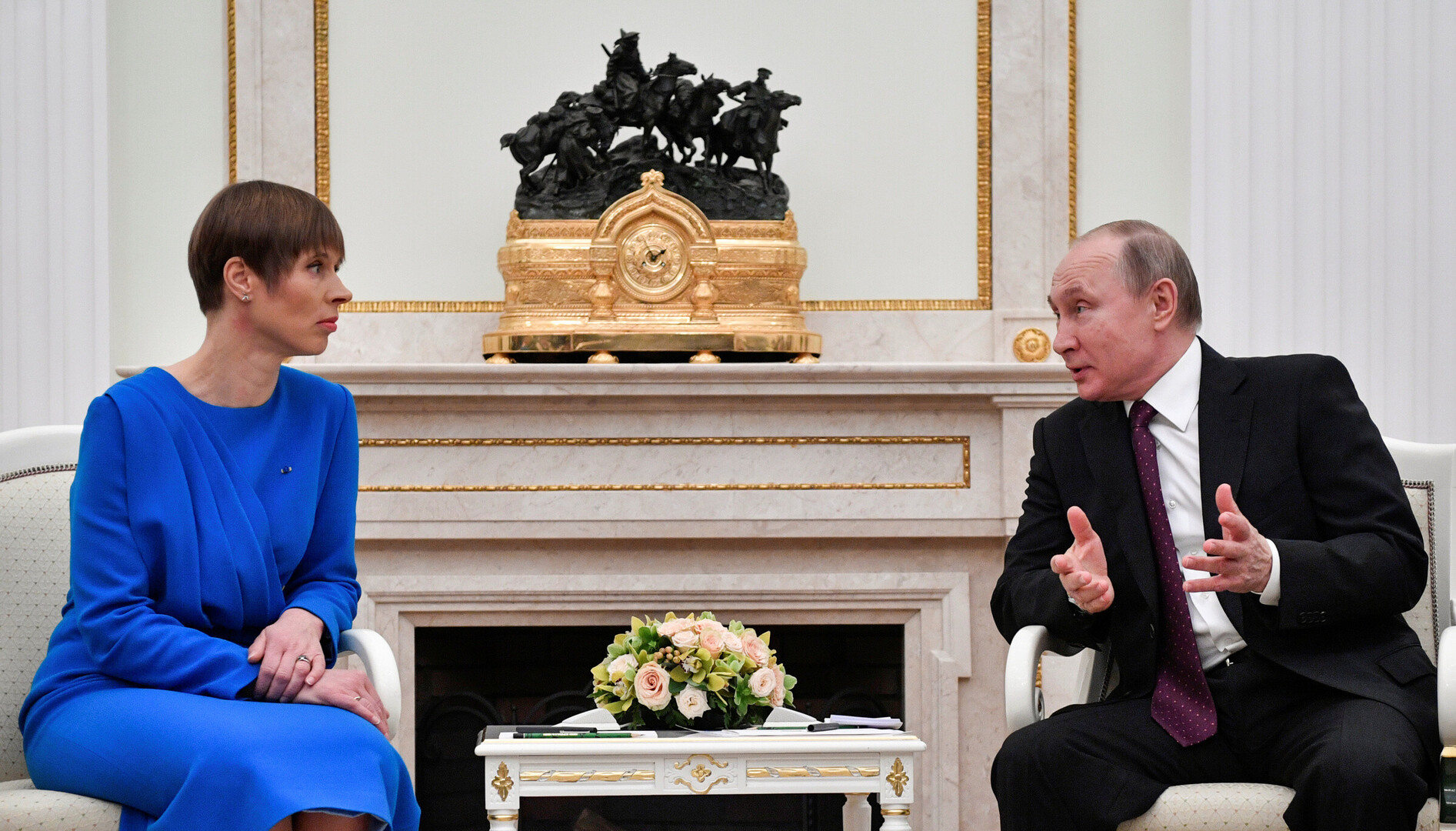 56344a390e8 Presidents Kaljulaid and Putin meet in Moscow, 18 April 2019. Source:  Reuters/Scanpix