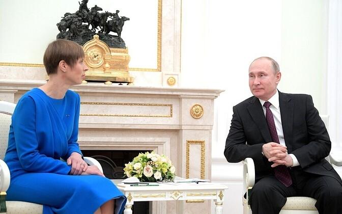 President Kersti Kaljulaid met Russian President Vladimir Putin in Moscow.