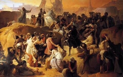 Ristisõdalased kunstniku Francesco Hayez' nägemuses.