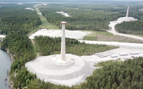 Строящийся ветряной парк Айду.