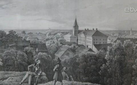 В тартуском Художественном музее открылась выставка, посвященная главному зданию университета.