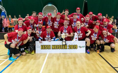 Новым чемпионом Эстонии по флорболу стала команда