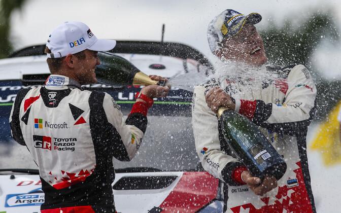 Ott Tänak ja Martin Järveoja said eelmise aasta Argentina rallil enda esimese võidu Toyotaga.