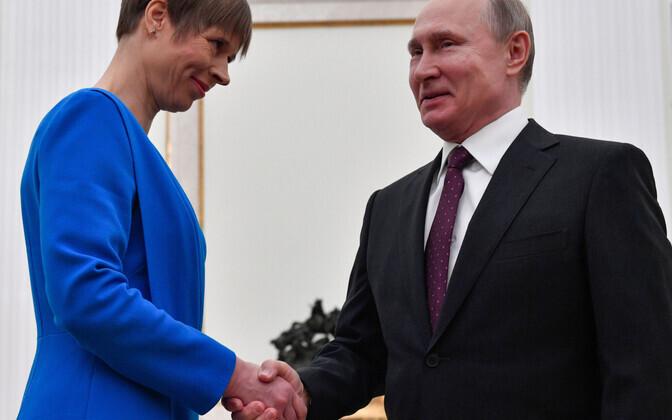 По словам Кальюлайд, встреча с Путиным была интересной.