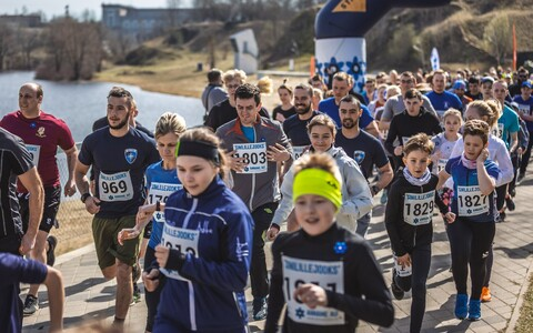 The Blue Hepatica Run was held in Narva for the first time on Friday. 19 April 2019.