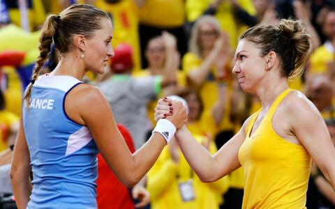 Kristina Mladenovic ja Simona Halep