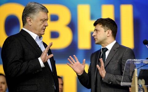 Петр Порошенко и Владимир Зеленский.
