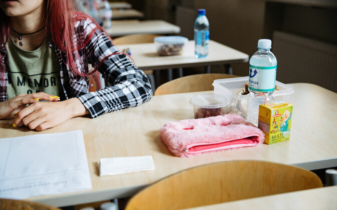 Student preparing to take an exam. Photo is illustrative.