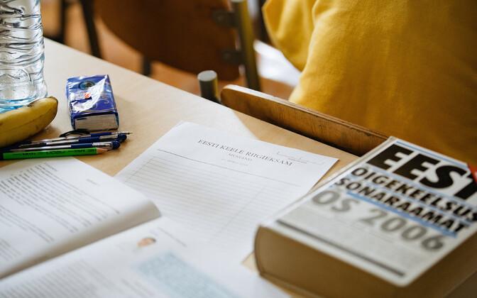 Estonian language state exam.