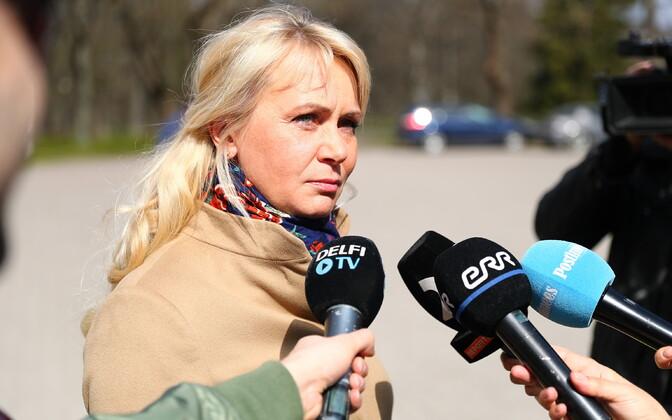 Rahvastikuminister Riina Solman.