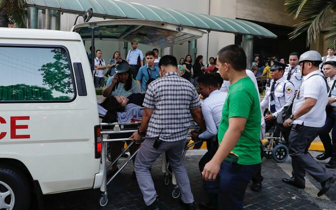Olukord Manilas pärast maavärinat 22. aprillil.