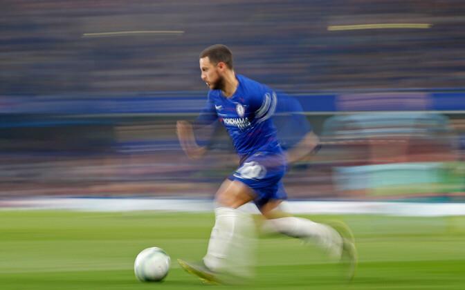 Chelsea avaväravale eeltöö teinud Eden Hazard