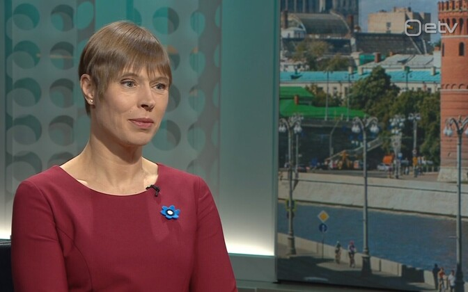 President Kersti Kaljulaid on ETV's Välisilm on Monday. 22 April 2019.