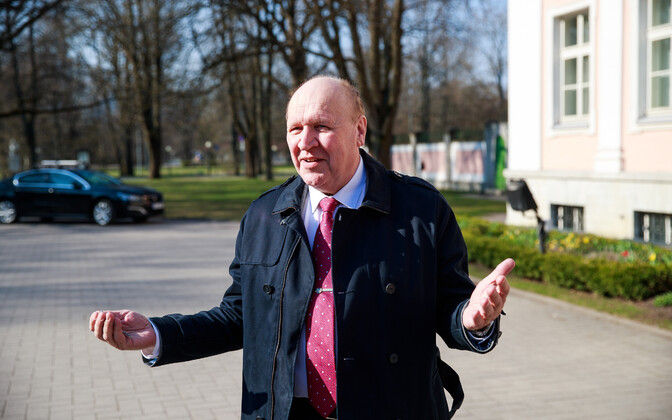 EKRE leader Mart Helme at the Kadriorg Palace on Tuesday.