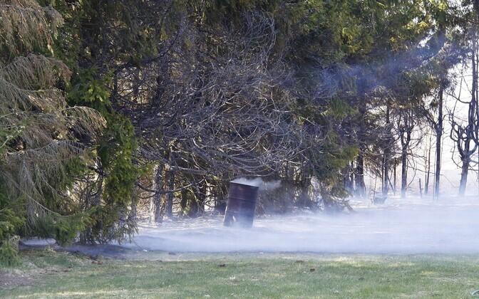 Пожар в деревне Нурме.