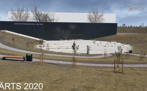 Kommunismiohvrite memoriaali taha kerkib jalgpallihall