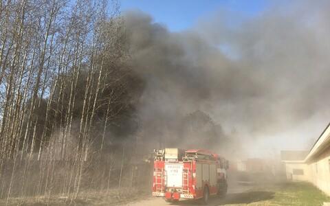 Пожар в предместье Тарту.