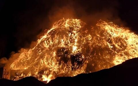 Пожар на свалке Уйкала.