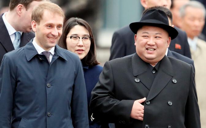 Прибытие бронированного поезда лидера КНДР во Владивосток.