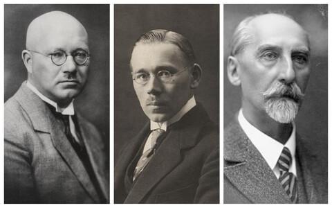 Отто Страндман, Аугуст Рей, Яан Тыниссон.