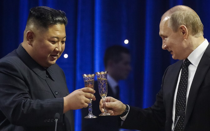 Ким Чен Ын и Владимир Путин.