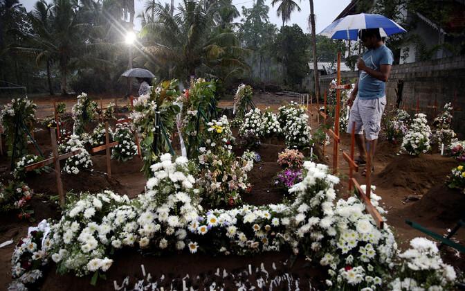 Sri Lanka rünnakutes hukkunute hauad.
