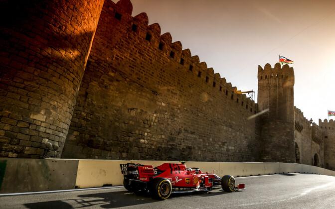 Charles Leclerc (Ferrari) Bakuu GP-l