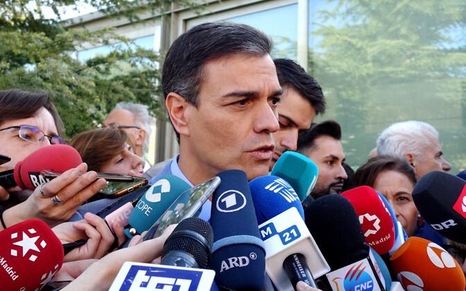 Hispaania peaminister ja sotsialistide juht pedro Sanchez.