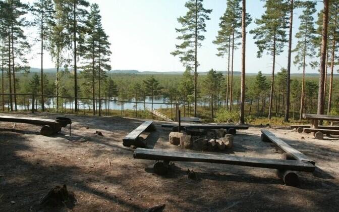 An RMK designated campfire spot.