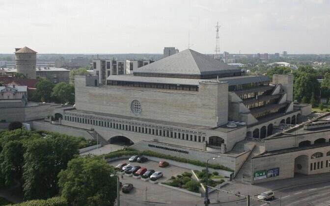 Здание Эстонской национальной библиотеки существенно обветшало.