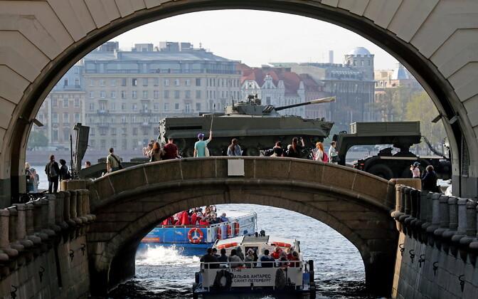 Võidupüha paraadi proov Venemaal Peterburis