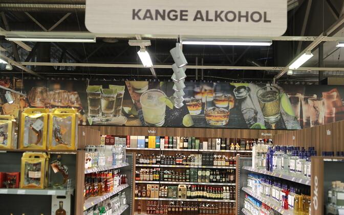 Coopi kaupluse alkoholiosakond.