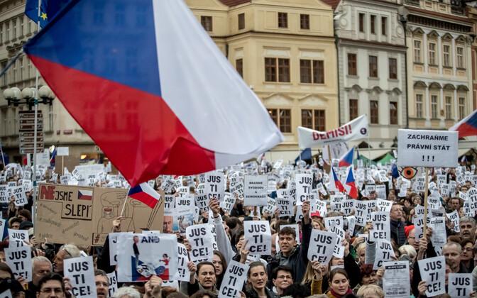 Meeleavaldus Tšehhi uue justiitsministri vastu 29. aprillil.