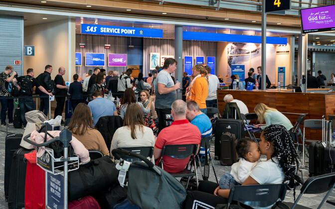 Пассажиры SAS в аэропорту Осло.