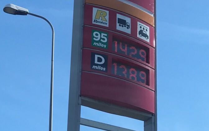 Цены на топливо в Эстонии неуклонно растут.