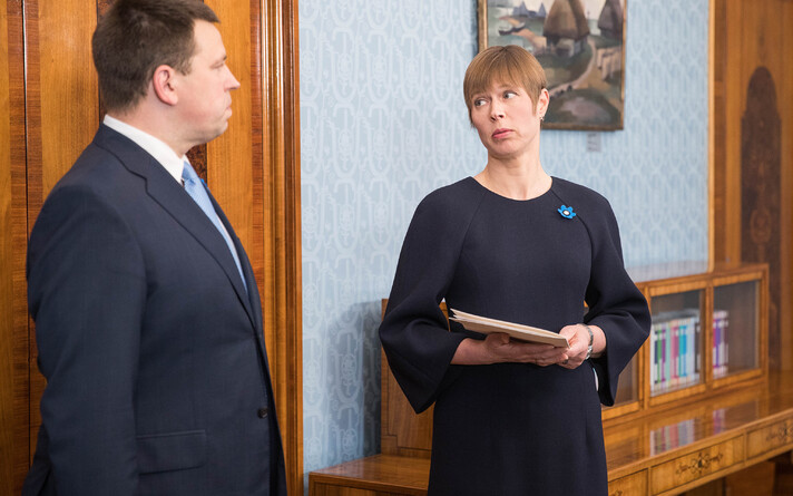 President Kersti Kaljulaid oversaw the swearing-in of Jüri Ratas' Center-EKRE-Isamaa cabinet on April 29. Ratas had been prime minister since November 2016, previously heading up a coalition of Center, Isamaa and SDE.