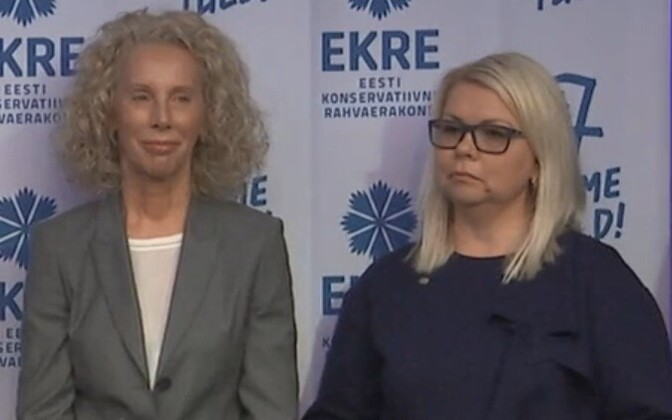 В Таллиннском горсобраниии Кайрит Реммак-Грассманн (справа) будет работать в одной фракции с Керсти Крахт (слева).
