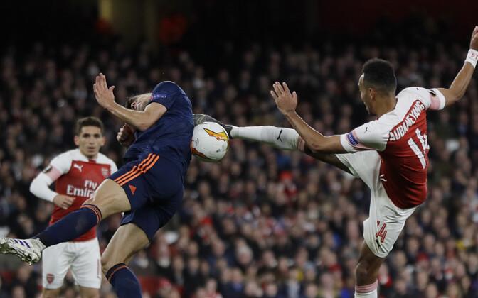 Arsenal astus sammu lähemale Euroopa liiga finaalile