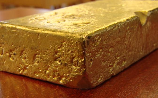 Хранящийся в Банке Эстонии золотой слиток был изготовлен 97 лет назад.