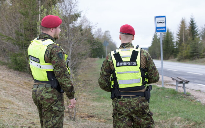 Estonian military police officers.