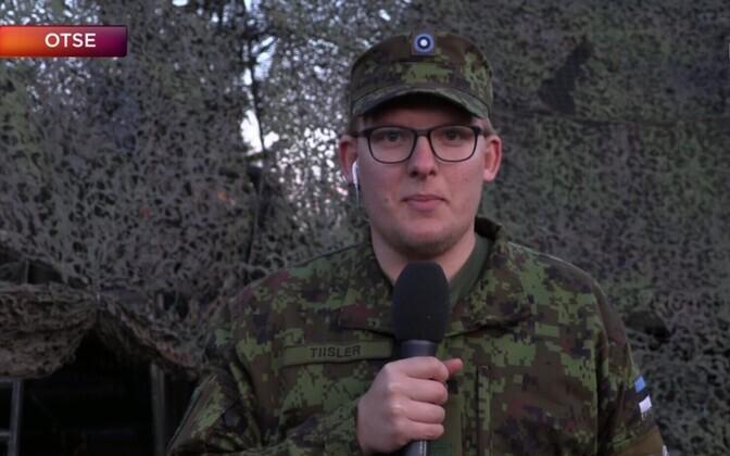 Jr. Sgt. Alvar Tiisler at Spring Storm.