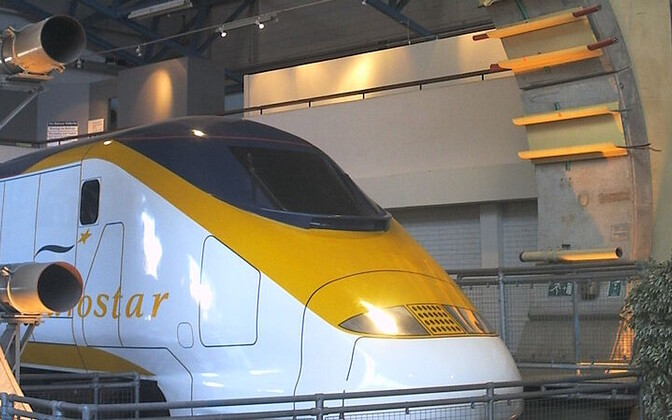 Eurotunneli eksponaat Riiklikus Raudteemuuseumis Yorkis.