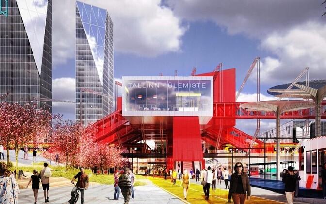 Работа, победившая на прошлом архитектурном конкурсе идей строительства терминала