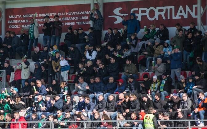 Levadia - Flora lahing aprilli lõpus meelitas Sportland Arenale 953 pealtvaatajat.
