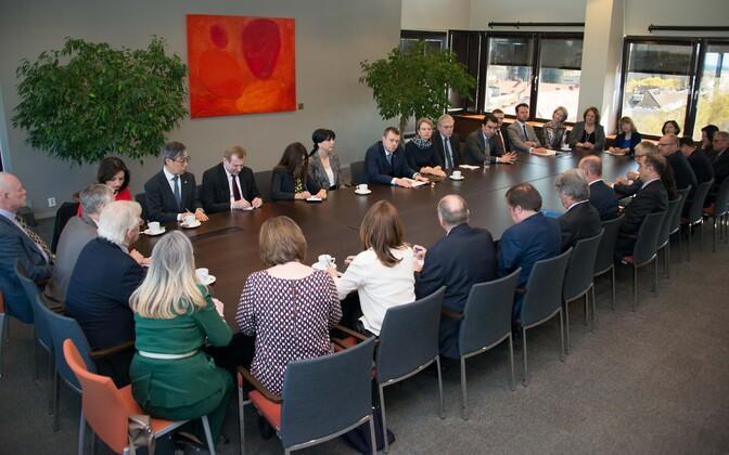 Minister of Foreign Affairs Urmas Reinsalu met with foreign ambassadors residing in Tallinn Monday, May 6, 2019.